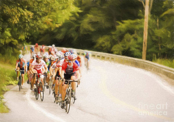 Waitsfield Photograph - Cycling Stage Race by Jan Tyler