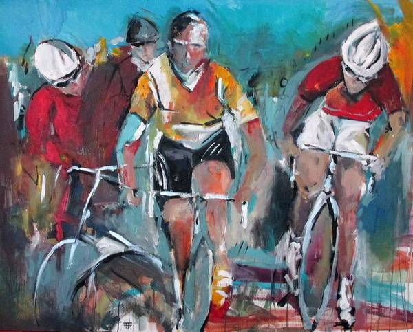 Painting - Cycling Trinity by John Jr Gholson