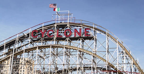 Photograph - Cyclone Roller Coaster by Gregory Dyer