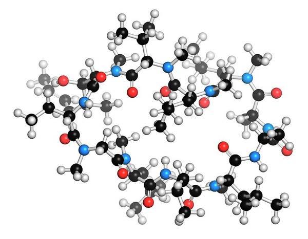 Pharmaceutics Wall Art - Photograph - Cyclosporine Immunosuppressant Drug by Molekuul