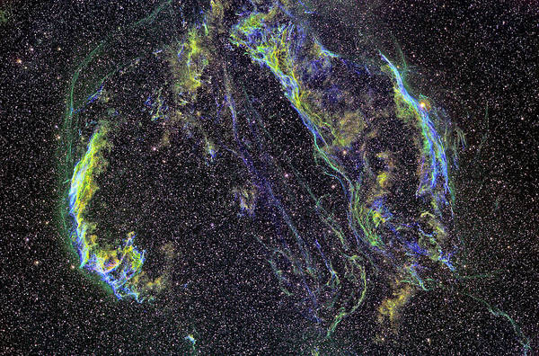 Cygnus Photograph - Cygnus Loop Supernova Remnant by Russell Croman/science Photo Library