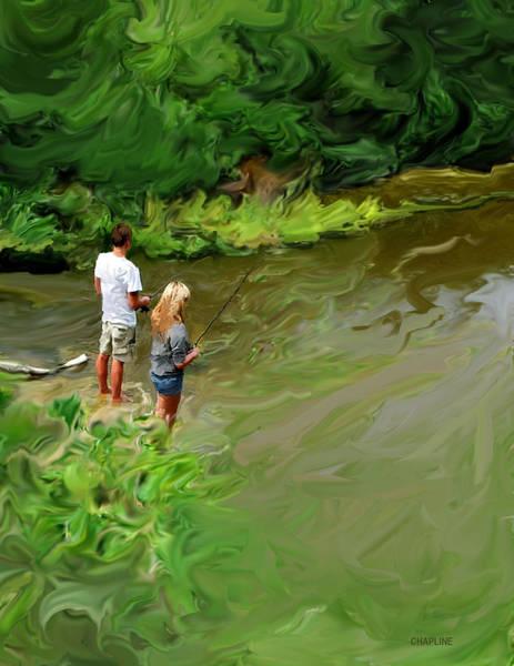 Fishing Pole Digital Art - Cypress Creek by Curtis Chapline