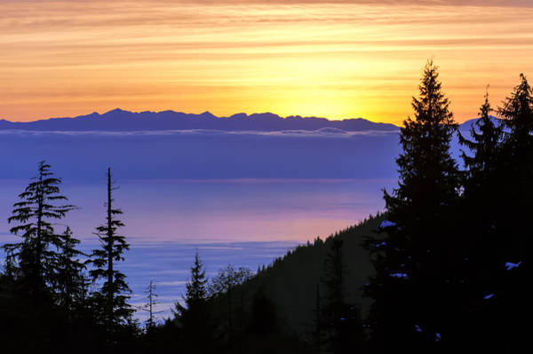 Photograph - Cypress Mountain Sunset by Paul W Sharpe Aka Wizard of Wonders