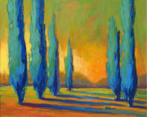 Painting - Cypress Road 5 by Konnie Kim