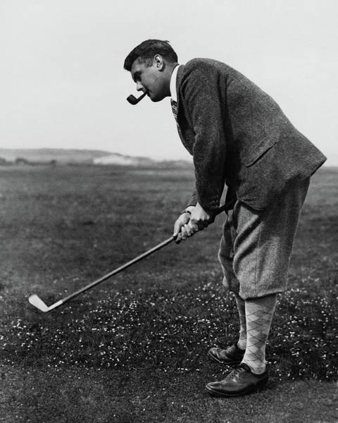 Golf Club Photograph - Cyril Tolley Playing Golf by Artist Unknown