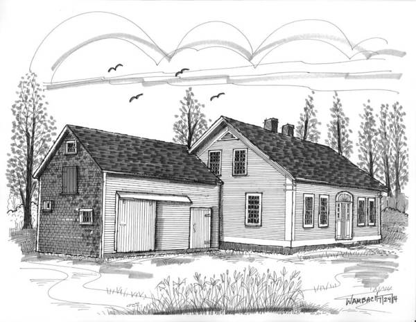 Drawing - Cyrus Eaton House by Richard Wambach