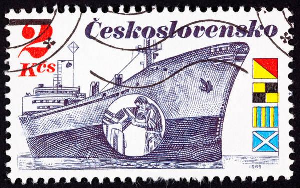 Czechoslovakian Photograph - Czech Freighter Brno  by Jim Pruitt