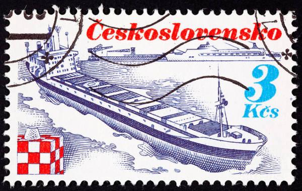 Czechoslovakian Photograph - Czechoslovakian Container Ship Trinec by Jim Pruitt