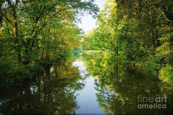 D And R Canal  Art Print