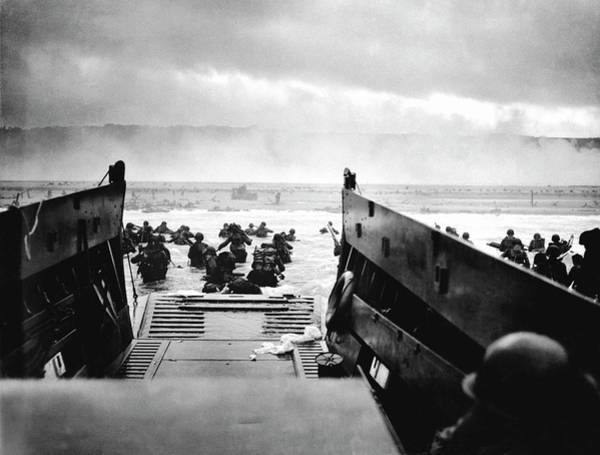 Us Marines Photograph - D-day Landings by Robert F. Sargent, Us Coast Guard