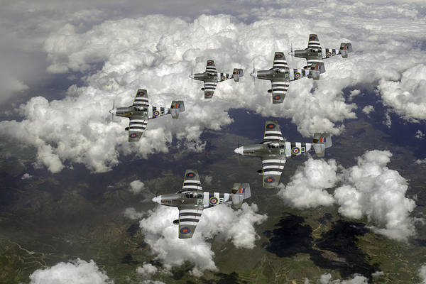 Photograph - D-day Mustangs by Gary Eason