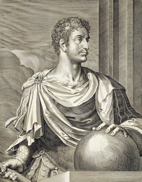 Wall Art - Drawing - D. Octavius Augustus Emperor Of Rome 27 by Titian