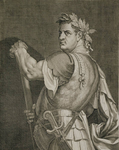 Ancient Drawing - D. Titus Vespasian Emperor Of Rome by Titian