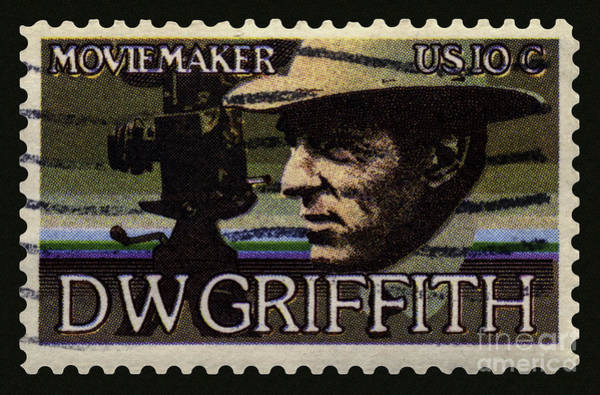 D W Griffith Photograph - D. W. Griffith Postage Stamp by Phil Cardamone