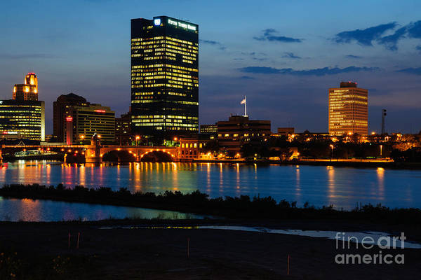D12u152 Toledo Ohio Skyline Photo Art Print