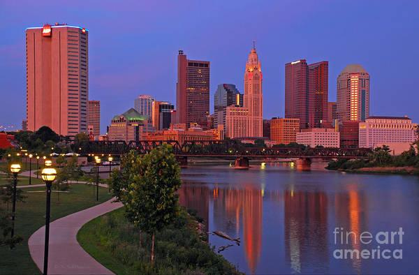Photograph - D2l38 Columbus Ohio Skyline Photo by Ohio Stock Photography