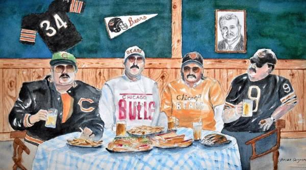 Chris Farley Painting - Da Bears by Brian Degnon