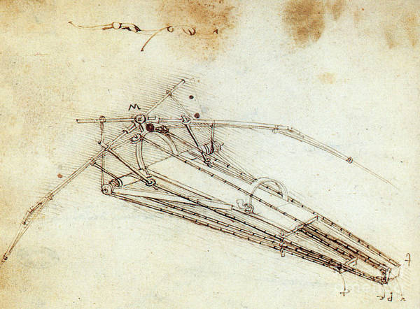 Photograph - Da Vinci Flying Machine 1485 by Science Source