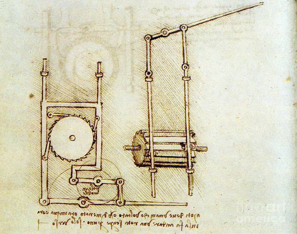 Photograph - Da Vinci, Rotary Motion by Science Source