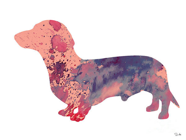 Archival Painting - Dachshund 3 by Watercolor Girl