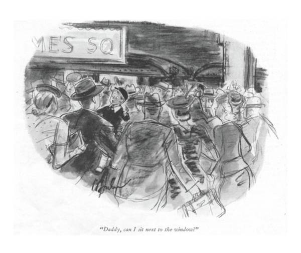 Manhattan Drawing - Daddy, Can I Sit Next To The Window? by Perry Barlow