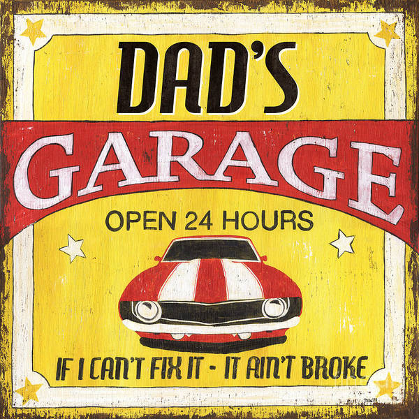 Vintage Wall Art - Painting - Dad's Garage by Debbie DeWitt
