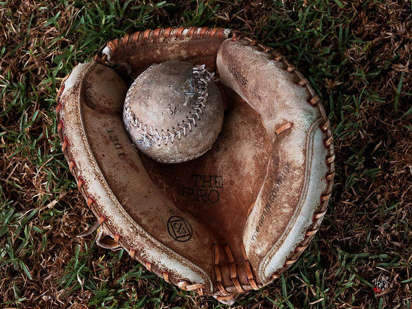 It Professional Photograph - Dad's Old Ball And Glove by Lorenzo Williams