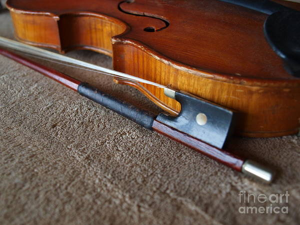 Photograph - Dad's Violin - 15 by Vivian Martin