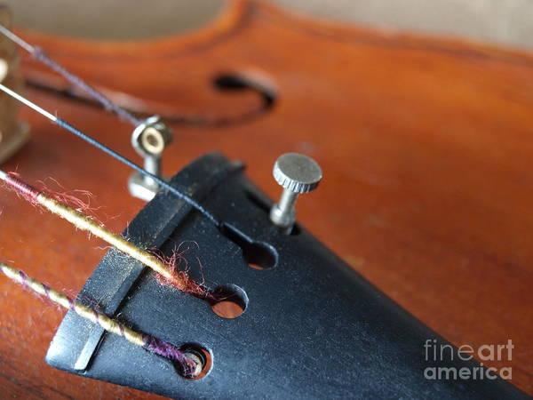 Photograph - Dad's Violin - 16 by Vivian Martin