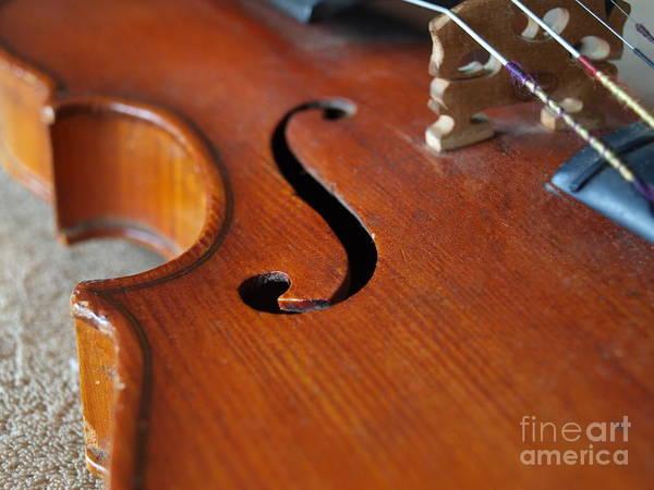 Photograph - Dad's Violin - 17 by Vivian Martin