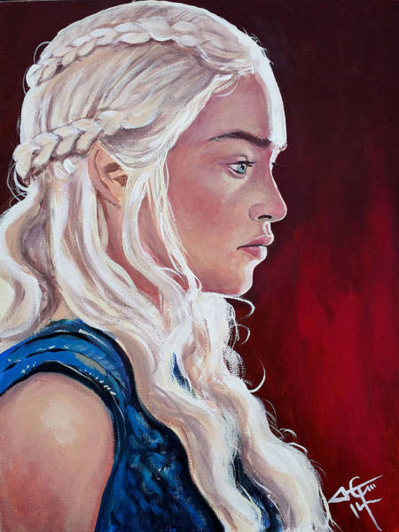 Game Painting - Daenerys Targaryen by Tom Carlton