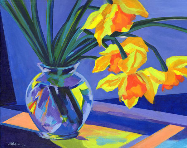 Painting - Daffodil Geometry by Tanya Filichkin