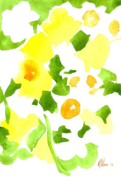 Wall Art - Painting - Daffodil Impressions by Kip DeVore