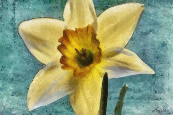 Wall Art - Painting - Daffodil by Jeffrey Kolker