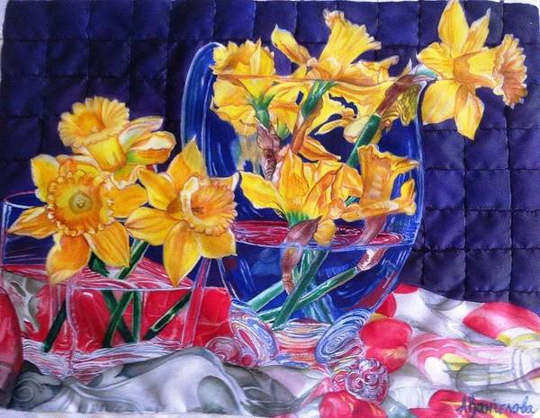 Narcis Painting - Daffodils by Anica Vangelova
