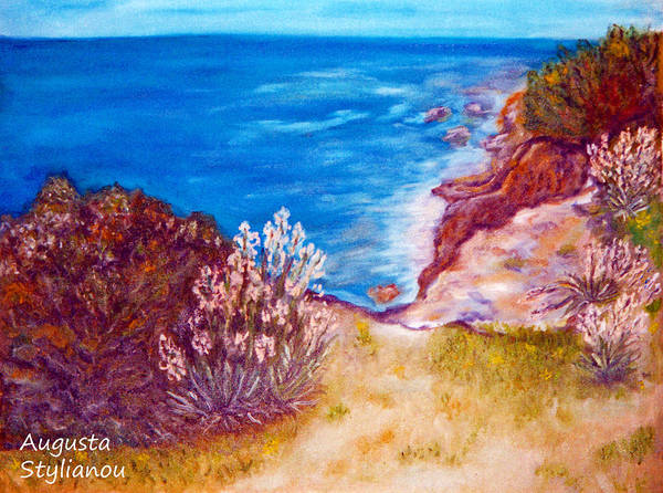 Painting - Daffodils At The Beach by Augusta Stylianou