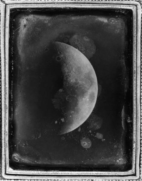 Photograph - Daguerreotype: Moon, 1852 by Granger
