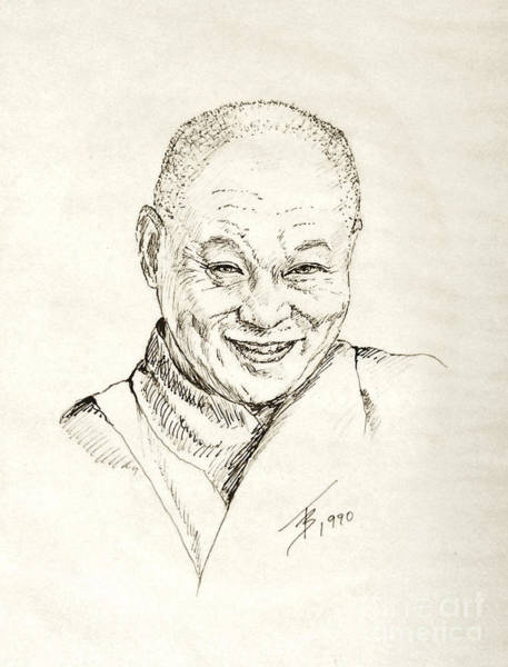 Drawing - Dahlai Lama by Art By - Ti   Tolpo Bader