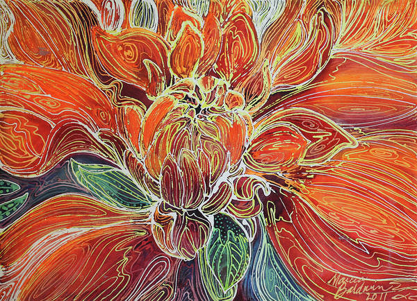 Painting - Dahlia Floral Abstract  by Marcia Baldwin