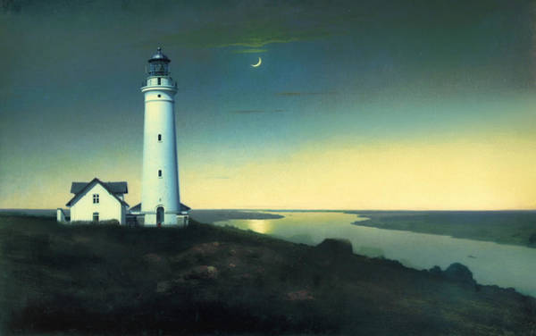 Lighthouse Painting - Daily Illuminations by Douglas MooreZart