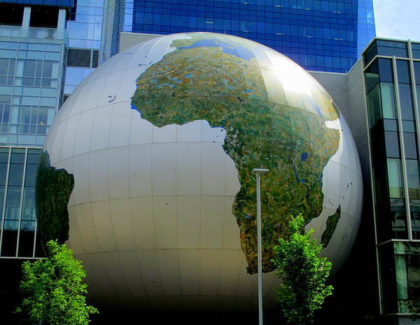 Downtown Raleigh Wall Art - Photograph - Daily Planet Africa by Randall Weidner