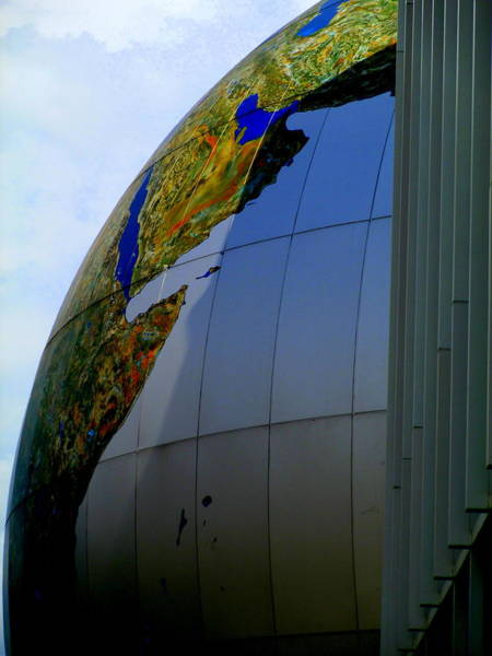 Downtown Raleigh Wall Art - Photograph - Daily Planet Saudi Arabia by Randall Weidner