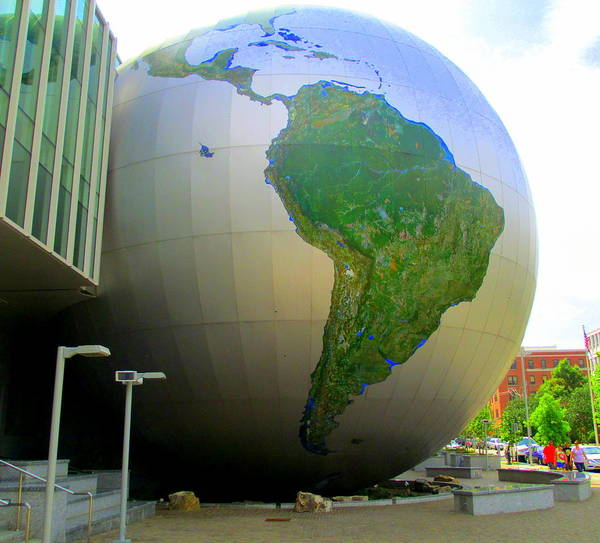 Downtown Raleigh Wall Art - Photograph - Daily Planet South America by Randall Weidner