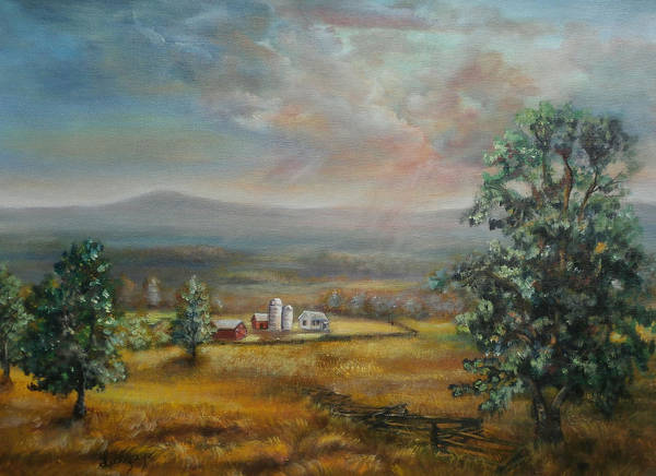 Painting - Dairy Farm Pennsylvania by Katalin Luczay