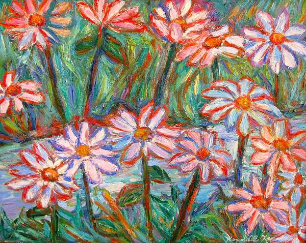 Painting - Daisies By A Stream by Kendall Kessler