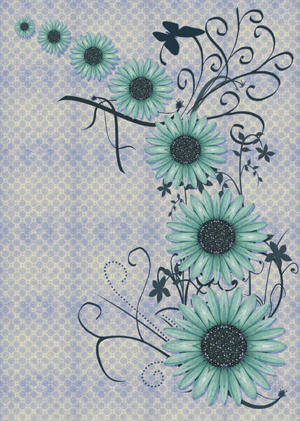 Variance Collection Digital Art - Daisies Design - S01-29a by Variance Collections
