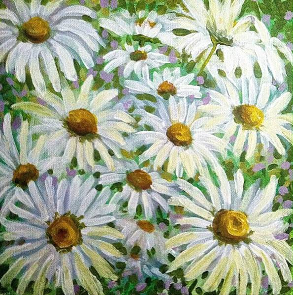 Painting - Daisies by Jeanette Jarmon