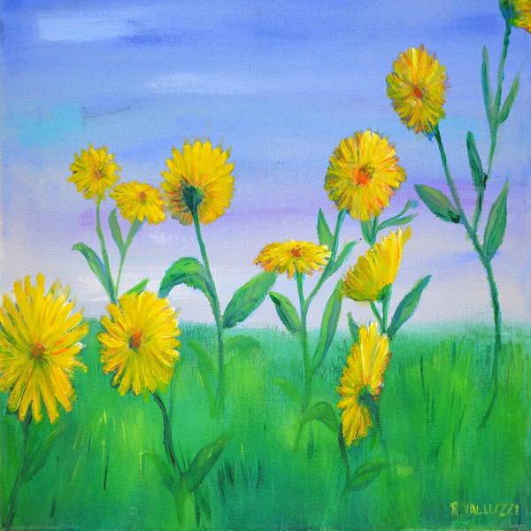 Painting - Daisy Dance by Regina Valluzzi