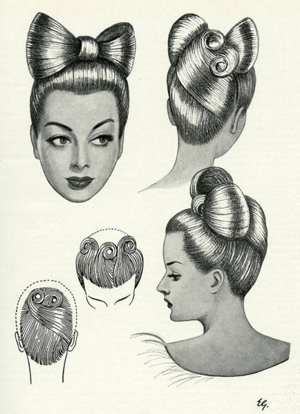 Hairdo Drawing - Daisy Duck Influence On This Hairstyle by Mary Evans Picture Library