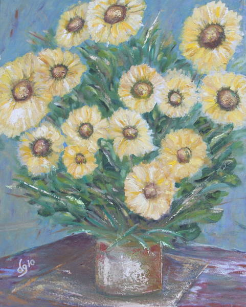 Painting - Daisy Burst by DG Ewing